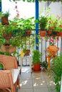 A garden on balcony Royalty Free Stock Photo