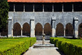 Garden in Batalha monastery, Portugal Stock Photography