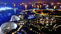 Garden by the bay singapore june aerial view of in singapore on june it is park of reclaimed land in central singapore and Royalty Free Stock Image