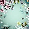 Garden bird design Royalty Free Stock Photo