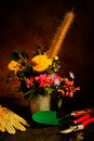 Garden Bouquet with tools Stock Images