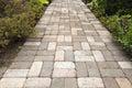 Garden Brick Paver Path Walkway Royalty Free Stock Photo