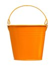 Garden bucket decorative bright isolated on white background Stock Photo