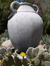 Garden: cactus with urn Royalty Free Stock Photos