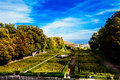 Garden of a castle. Royal Gardens. Royalty Free Stock Photo