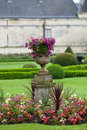 Garden and Castle of Valencay in Loire Valley Royalty Free Stock Photo