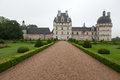 Garden and Castle of Valencay in Loire Valley Stock Images