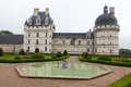 Garden and Castle of Valencay in Loire Valley Royalty Free Stock Image