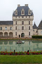 Garden and Castle of Valencay in Loire Valley Stock Photos