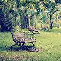 Garden chair old vintage retro style Royalty Free Stock Image