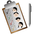 Garden checklist a of the kids in the in a white background Royalty Free Stock Photo