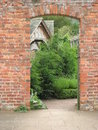 Through the garden door Royalty Free Stock Photography
