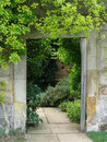 Garden doorway with path Stock Photography