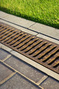 Garden drain Royalty Free Stock Photos