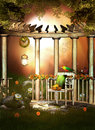 Garden Escape Pergola Royalty Free Stock Photography