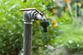 Garden faucet detail of old Stock Photo