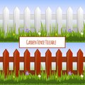 Garden fence pattern Royalty Free Stock Photo
