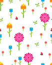Garden flower party vector card template.