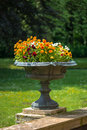 Garden flower vase Royalty Free Stock Photo