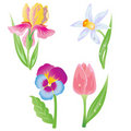 Garden flowers  icon Stock Photography