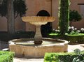 Garden Fountain in Alhambra Royalty Free Stock Photo