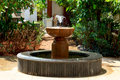 Garden fountain beautiful shot of in sunny day Royalty Free Stock Images