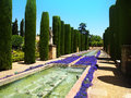 Garden and fountains Royalty Free Stock Images