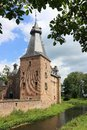 Garden in front of Doorwerth Castle The Netherlands Royalty Free Stock Photo
