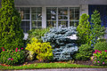 Garden in front of house Royalty Free Stock Images