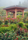 Garden gazebo Stock Photo
