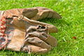 Garden gloves Royalty Free Stock Image