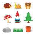 Garden Gnome Collection Royalty Free Stock Photography