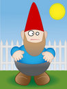 Garden Gnome - Vector Royalty Free Stock Photography