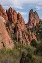 Garden of the gods colorado springs rocky mountains Royalty Free Stock Photo