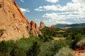 Garden of the gods horizontal view in colorado springs colorado Royalty Free Stock Photos