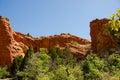 Garden of the gods photo red rocks at park near denver colorado Royalty Free Stock Photography