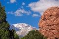 Garden of the gods photo red rocks at park near denver colorado Stock Photography