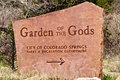 Garden of the Gods Sign Royalty Free Stock Photo