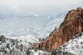 Garden of the Gods Winter Snow Royalty Free Stock Photo