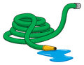 Garden hose an illustration of a green rolled up Royalty Free Stock Images