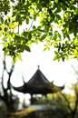 Garden of the humble administrator suzhou a pavilion is framed by hanging green branches in s in city eastern china is Royalty Free Stock Photo