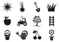 Garden icons Royalty Free Stock Photo