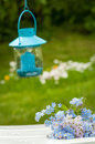 Garden idyll with lantern Royalty Free Stock Image