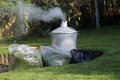 Garden incinerator Royalty Free Stock Image
