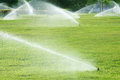 Garden irrigation Royalty Free Stock Photos