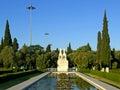 Garden of Jeronimos monastery, Lisbon, Portugal Stock Image