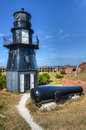 Garden key lighthouse at dry tortugas national park fort jefferson in Royalty Free Stock Image