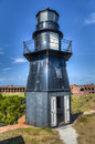 Garden key lighthouse at dry tortugas national park fort jefferson in Stock Photo