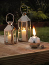 Garden lanterns Stock Image