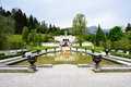 Garden in Linderhof Palace, Germany Royalty Free Stock Photo